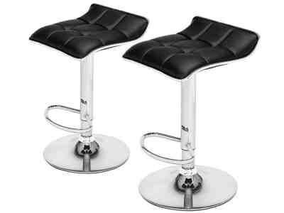 Until Gone: Curved Top Adjustable Height Bar Stools (Set of 2) for $69.99 (Reg. Price $205.99)