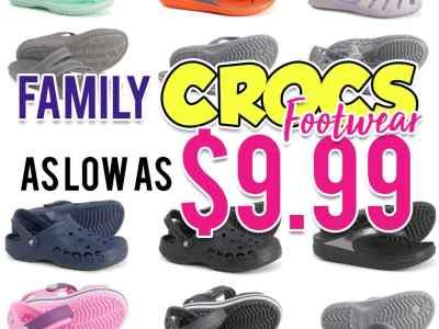 Sierra: Family Crocs Footwear, as low as $9.99!