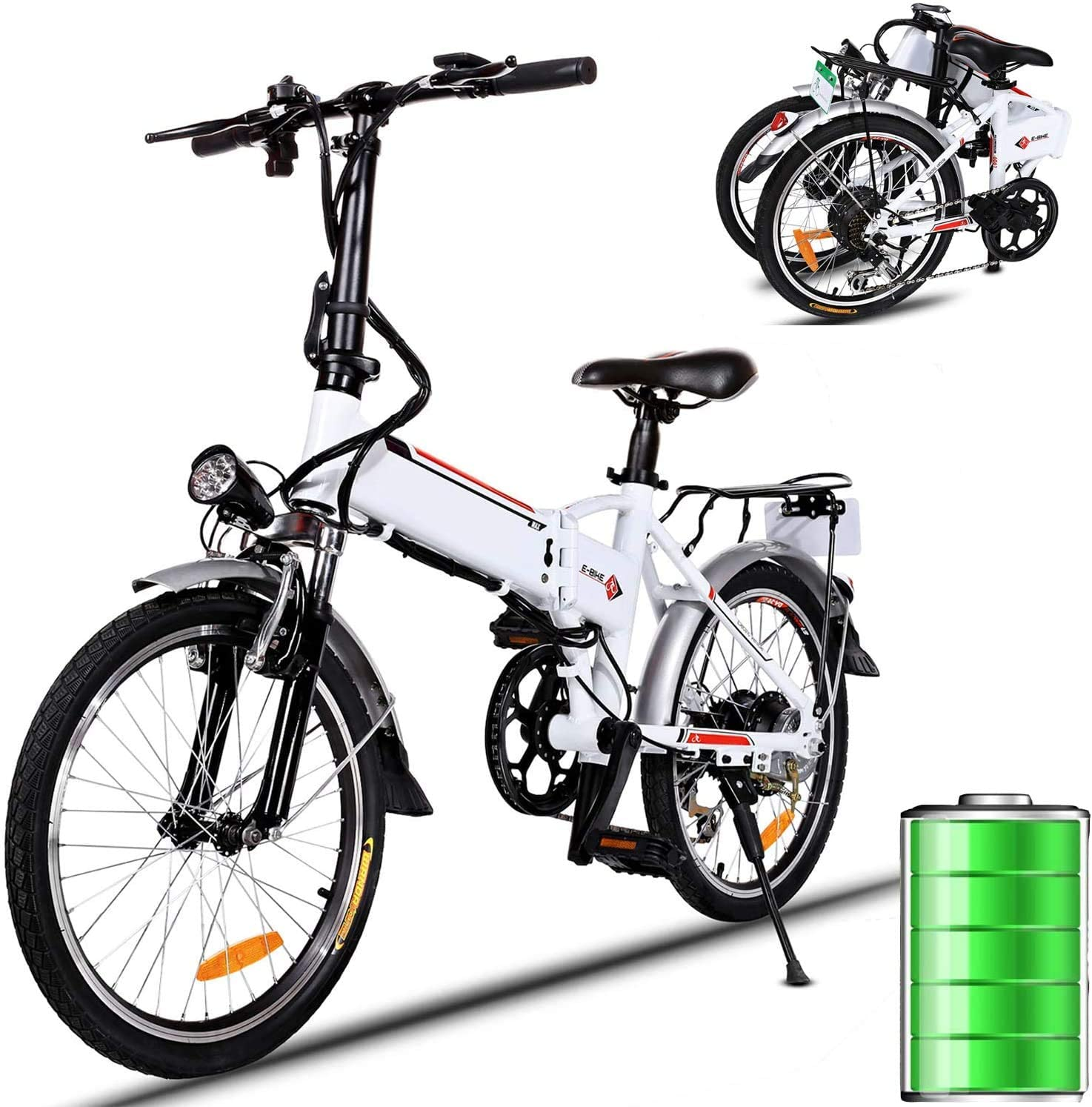 Amazon: Folding Electric Bike 250W City Commuter Ebike with 7 Speed Gear, Just $629.99 (Reg $1,259.99) after code!