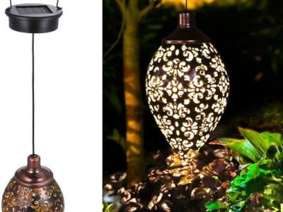 Amazon: Hanging Solar Lights Tomshine Solar Lantern LED Garden Lights, Just $16.89 (Reg $25.99) after code!