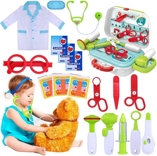 Amazon: Kids Doctor Kit, 22 Piece Kids Pretend Play Toys, Just $14.79 (Reg $36.99) after code!