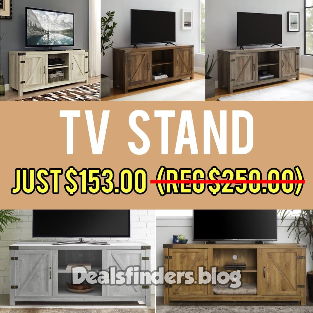 Walmart: Manor Park Farmhouse Barn Door TV Stand, Just $153.00 (Reg $250.00)