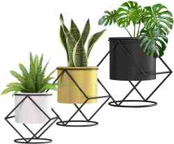 Amazon: Plant Pot with Black Metal Stand, Set of 3 for $17.99 (Reg. Price $35.99) after code and coupon!