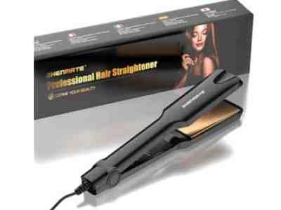 Amazon: Professional Titanium Flat Iron Hair Straightener for $12.00 (Reg. Price $59.99) after code!