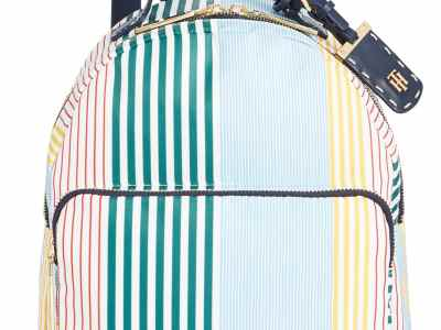 Macy's: Tommy Hilfiger Julia Striped Nylon Dome Backpack for $76.80 (Reg. Price $128.00)