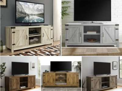 Walmart: Woven Paths Modern Farmhouse Barn Door TV Stand, Just $153.00 (Reg $250.00)
