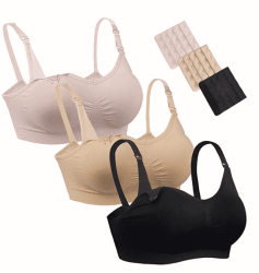 Amazon: 3Pack Seamless Nursing Breastfeeding Bras $22 (Reg. $46)