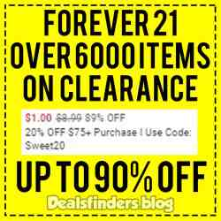 Forever 21: Clearance Sale, Up to 90% off! Limited Time!