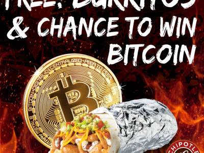 Chipotle is Giving Away 10,000 Burritos or Bitcoin on April 1st (National Burrito Day Freebie)