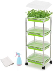 Amazon: 4 Layers Seed Sprouter Tray Kit Wheeled for ONLY $28.49 (Reg. $49.99)
