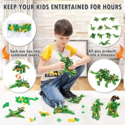 Amazon: 577 Pieces Dinosaur Building Blocks Set Only For $8.99 (Reg: $29.99)