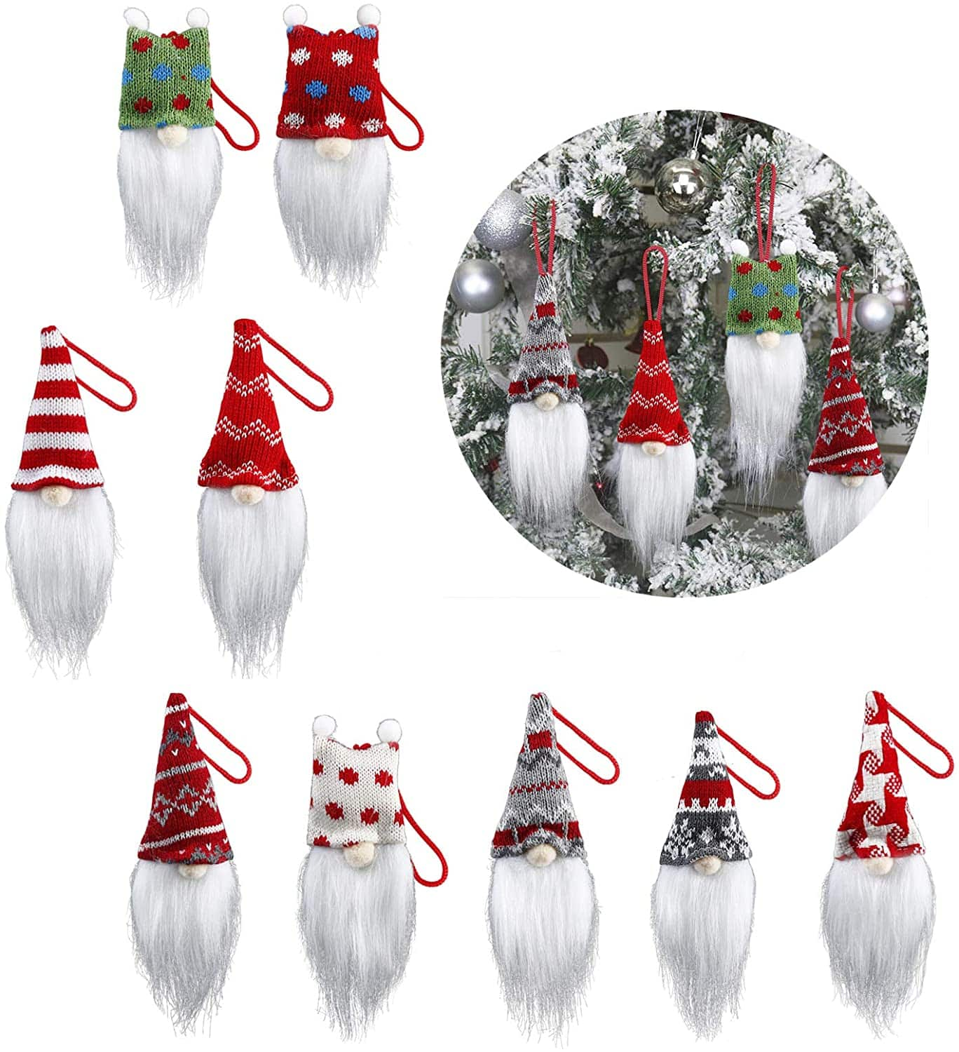 Amazon: 9 pcs Christmas Tree Ornaments sets,super cute clearance price, Just $7.99 (Reg $15.99) after code!