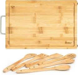 Amazon: Bamboo Cutting Board Large + 6 Pcs Utensil Set for $11.58 (Reg. $25.99)