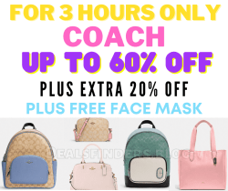 Coach Bags Up to 70% off - PLUS an extra 20% off with code