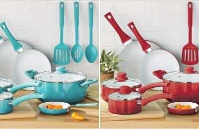 Walmart: Mainstays Ceramic Nonstick 12 Piece Cookware Set, Just $39.97 (Reg $49.97)