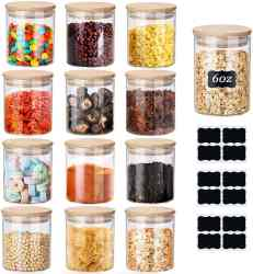 Amazon: 12 Set 6oz Spice Jars with Bamboo Airtight Lids and Labels for ONLY $13.94 (Reg. $27.88)