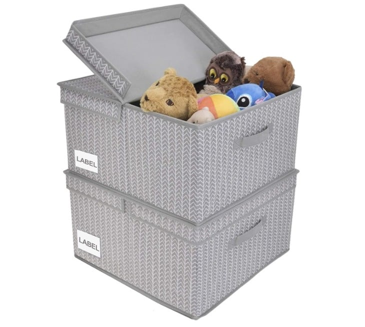 Amazon: Storage Bins with Lids, 2 Pack for $16.19 (Reg. Price $26.99) at checkout!