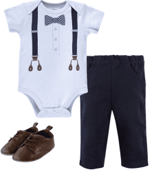 Amazon: Little Treasure Bodysuit, Pants, and Shoe Set $9.14 (Reg. $13.99)