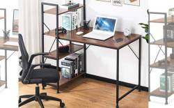 Amazon: Computer Desk with 4 Tier Bookshelf $34 (Reg. $79.99)