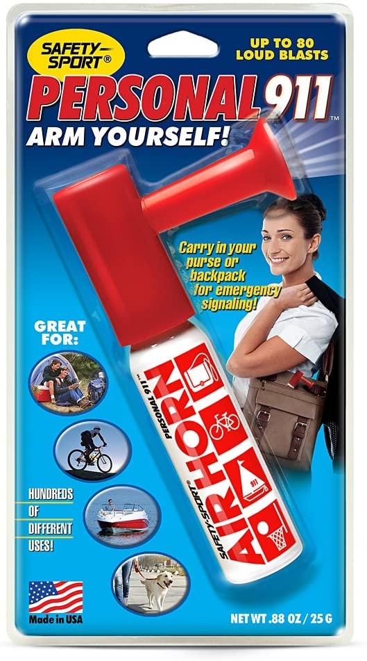 Amazon: Personal 911 AIR Horn for $8.99 (Women Saftey Accessories)