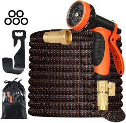 Amazon: 100FT Expandable Garden Hose with 10 Function Nozzle for ONLY $13.49 - $19.99 (Reg: $59.99)