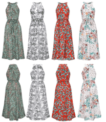 Amazon: Women's Summer Floral Maxi Dresses Sleeveless Halter Neck Just $15.49 (Reg. $30.99)