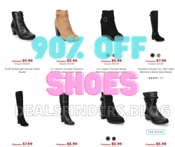Kohl's: Shoes on Sale Up to 90% OFF!