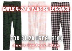 Kohl's: Girls 4-20 & Plus SO Leggings for $1.28 (Reg. $16.00)