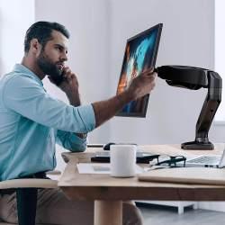 Amazon: Single Arm Monitor Stand Desk w/ Clamp $1.44 (Reg $27)