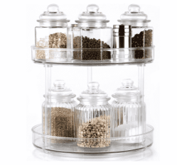 """Amazon: Susan lazy, 12"""" Clear Spinning Storage Container Bins Just $12.99 (Reg. $25.99)"""