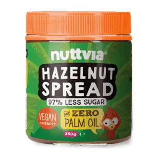 Nuttvia Hazelnut Spread 97% Less Sugar Vegan Friendly 350g