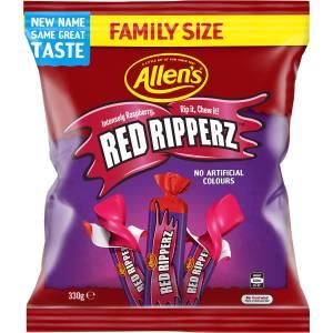 Allens Redskins Red Ripperz Lollies Bag 330g