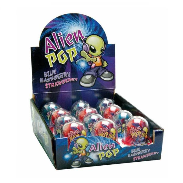Alien Pop Ring Lollipop Candy for Kids 15g X 12 Units