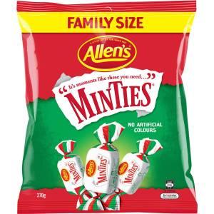 Allens Minties Lollies Bag 370g