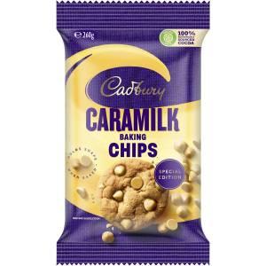 Cadbury Caramilk Baking Chips Chocolate Cooking Bits 260g