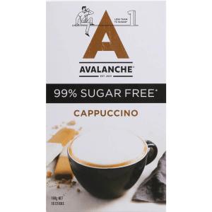 Avalanche 99% Sugar Free Coffee Cappucinno Sachets 10 Pack