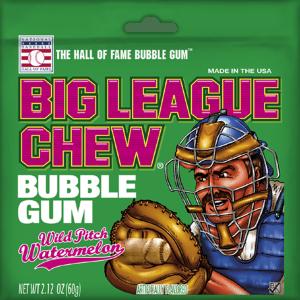 Big League Chew Wild Pitch Watermelon Bubble Gum 60g Bag X 12 Bags - USA
