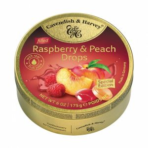 Cavendish and Harvey Raspberry and Peach Candy Drops Tin 175g