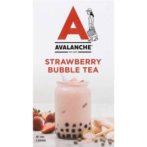 Avalanche Strawberry Bubble Tea Sachets 5 Pack