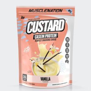 Muscle Nation Custard Casein Protein Powder Vanilla 440g