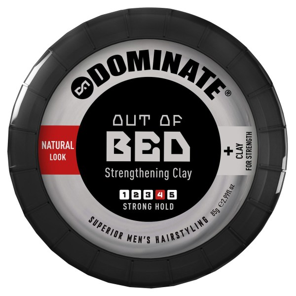 Dominate Out of Bed Strong Hold Natural Look Styling Hair Clay 85g