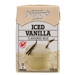 Nippys Iced Vanilla Flavoured Milk Carton 375ml X 12 Cartons