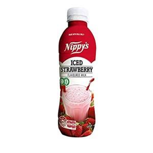 Nippys Iced Strawberry Flavoured Milk Bottle 500ml X 6 Bottles