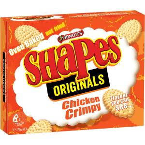 Arnotts Shapes Original Crackers Biscuits Chicken Crimpy Box 175g