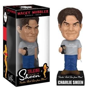 Charlie Sheen Talking Wacky Wobbler Bobble Head Action Figure