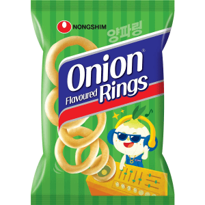 Nongshim Onion Rings Flavoured Crackers Chips Snack Pack 90g X 20 Bags