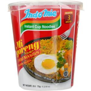 Indomie Mi Goreng Instant Cup Fried Noodles 75g X 12 Cups