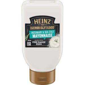 Heinz Seriously Good Rosemary and Sea Salt Mayonnaise Mayo 295ml