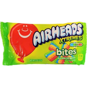 Airheads Xtremes Sour Rainbow Berry Bites Candy Lollies Pack 56g