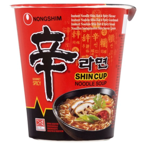 Nongshim Shin Ramyun Gourmet Spicy Instant Noodles Soup Cup 68g X 12 Cups
